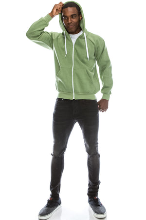 Melange Fleece Hoodie Jacket (5 Colors)