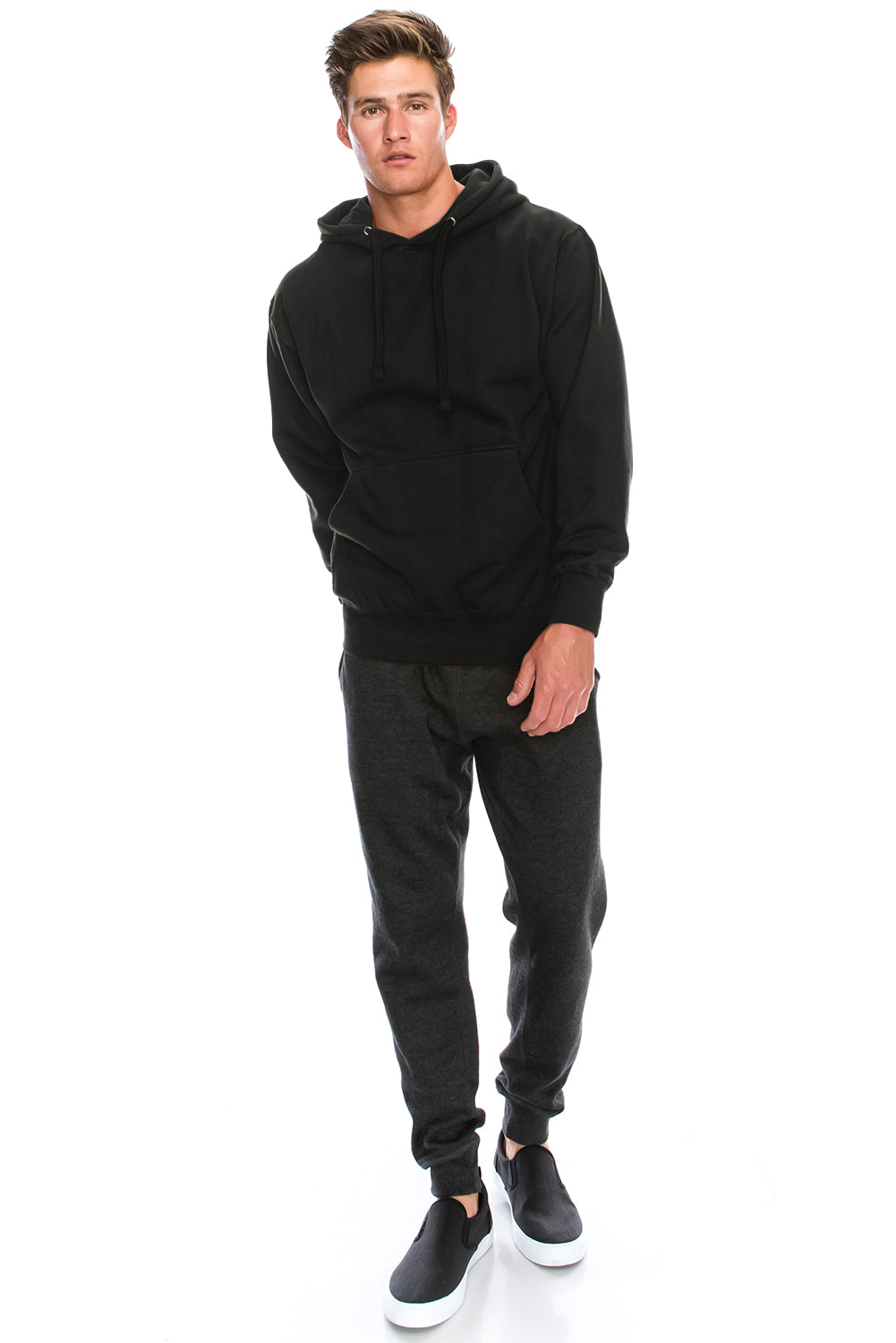Slim Fit Fleece Pullover Hoodies