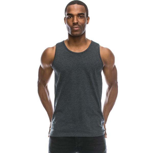 Basic Solid Jersey Tank Top (Charcoal)