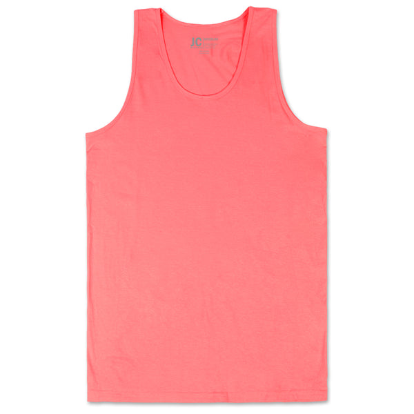 Basic Solid Jersey Tank Top (Coral)