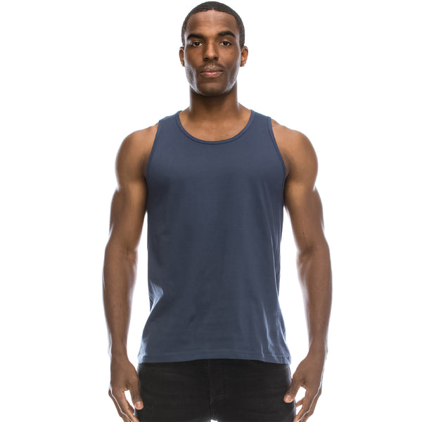 Basic Solid Jersey Tank Top (Harbor Blue)