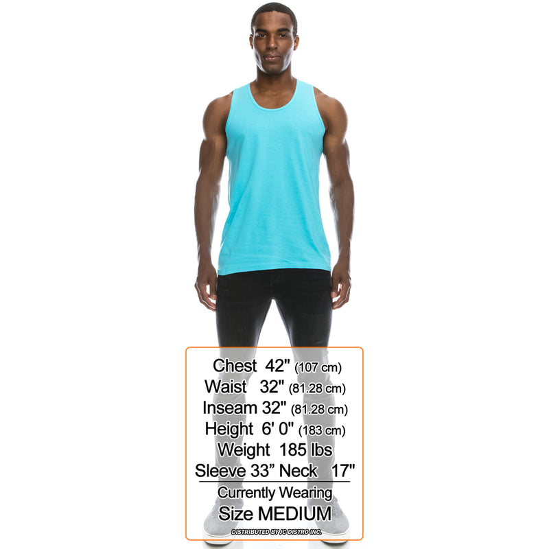 Basic Solid Jersey Tank Top (Pacific Blue)