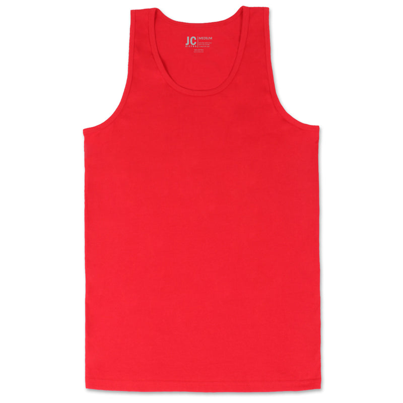 Basic Solid Jersey Tank Top (Red)