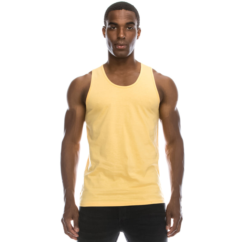Basic Solid Jersey Tank Top (Squash)