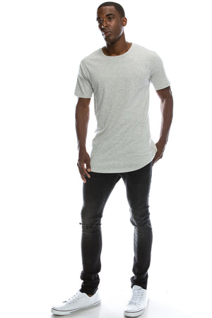 Skater Long Length Crewneck T-shirts (7 Colors)