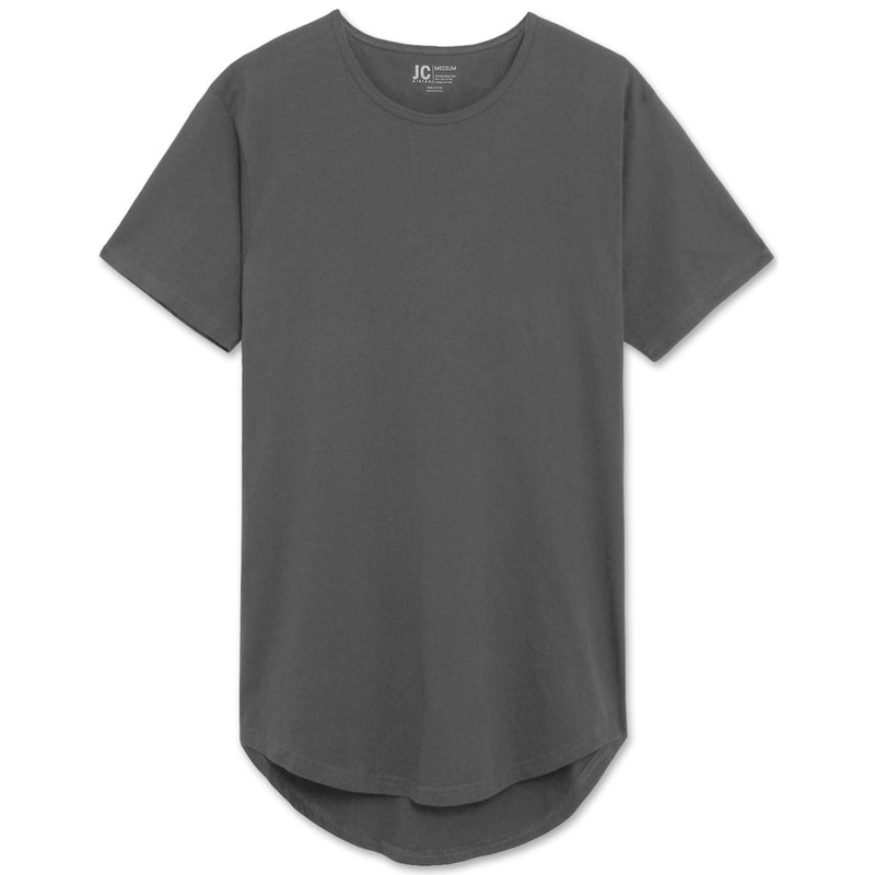 Drop Cut Extra Length Longline T-Shirts