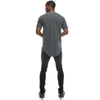 Elong Longline Crewneck T-shirt (Cool Grey)