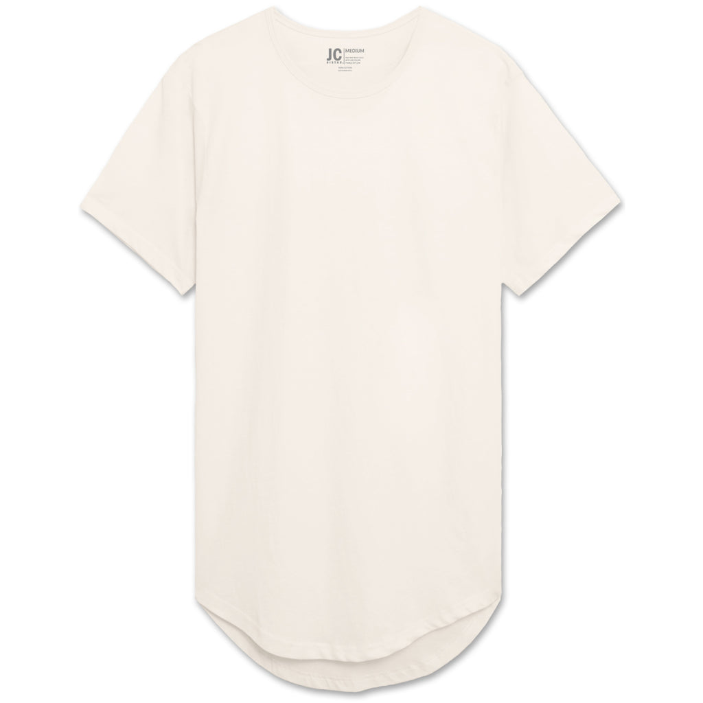 Drop Cut Longline T-Shirt - Off White