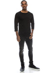 All-Black Raglan Baseball Jersey T-Shirts