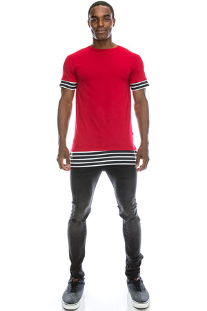 Extra Length Layered T-shirt (6 Colors)
