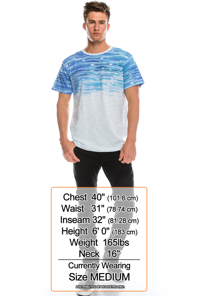 Blue Sea Ripple T-Shirt