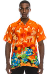 Hawaiian Beach Shirt (Orange)