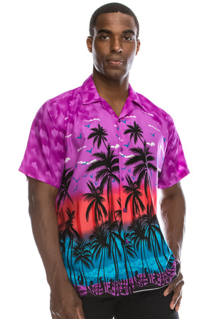 Hawaiian Beach Shirt (Purple)