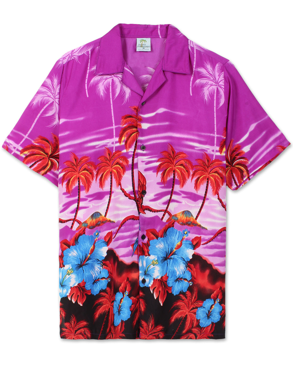 Sunset Beach Hawaiian Shirt (Purple Pink)