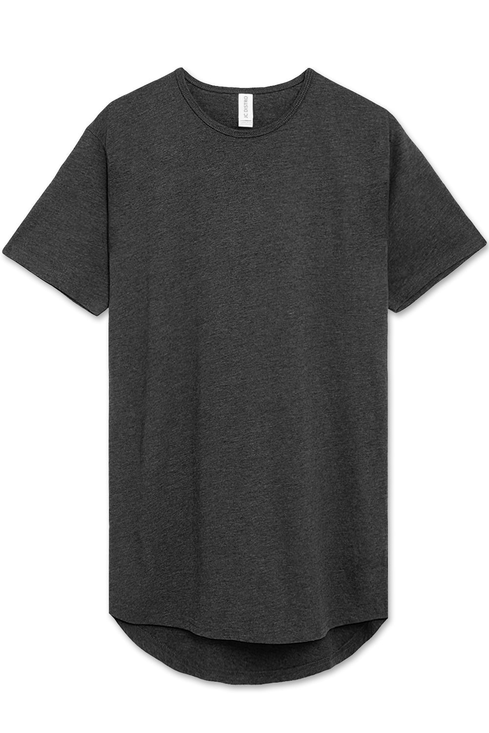 Soft-Fabric Scallop Hem T-shirt (H Black)
