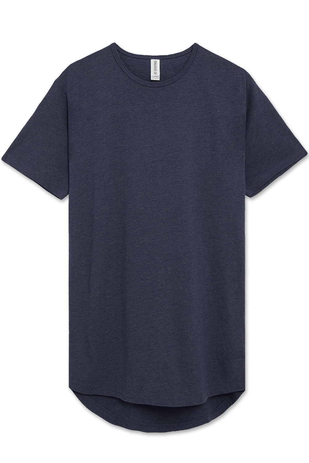 Soft-Fabric Scallop Hem T-shirt (H Navy)