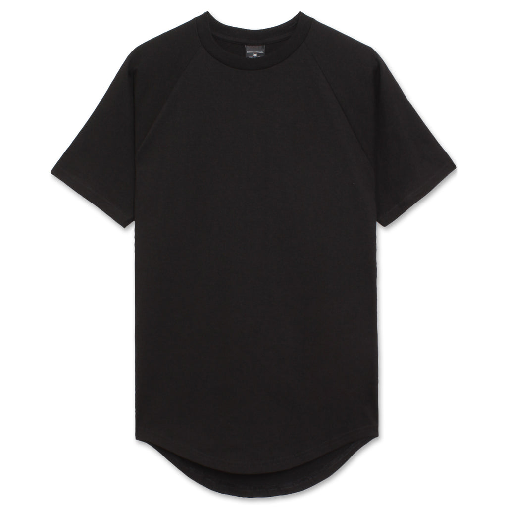 Heavyweight Drop Cut Longline T-Shirt - Black
