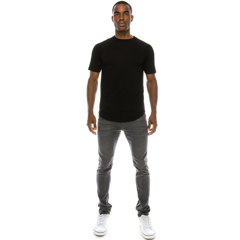 Heavyweight Drop Cut Longline T-Shirt
