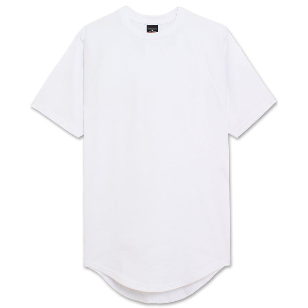 Heavyweight Drop Cut Longline T-Shirt - White
