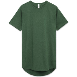 Drop Cut Longline T-Shirt (Green Heather)