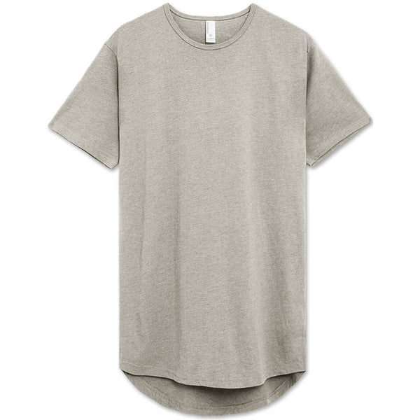 Drop Cut Longline T-Shirt (Melange)