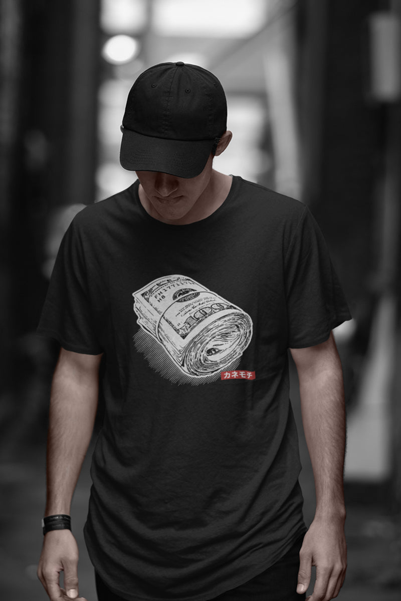 Money Roll Drop Cut Longline T-Shirt