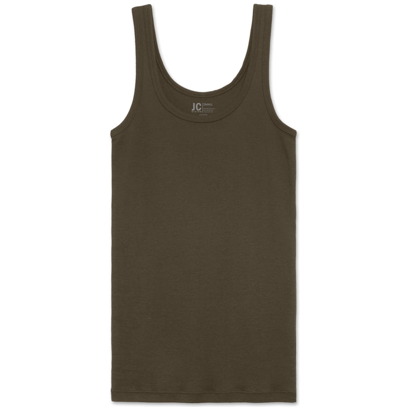Ribbed Scoop Tank Top