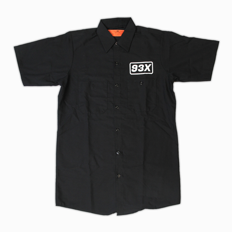 93X Industrial Short Sleeve Work Shirt (Black)