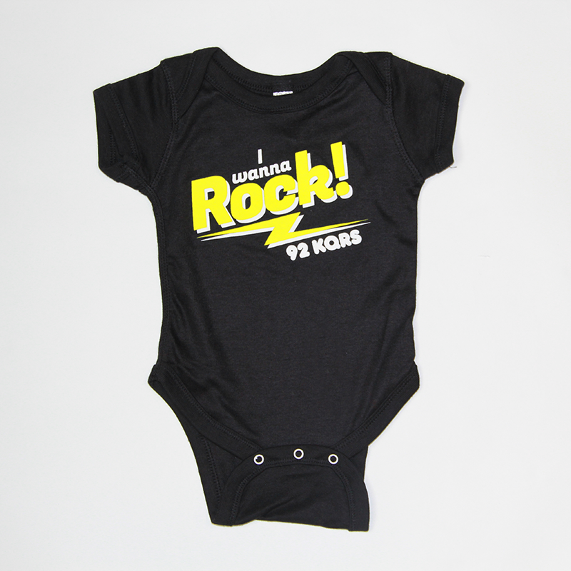"""I WANNA ROCK"" ONESIE"