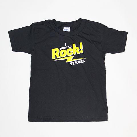 """I WANNA ROCK"" TODDLER TEE"