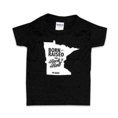 """Born & Raised on Rock & Roll"" Toddler Tee"