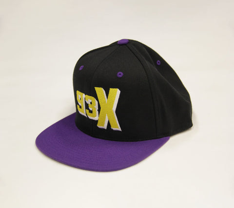 Purple / Black Snapback Hat