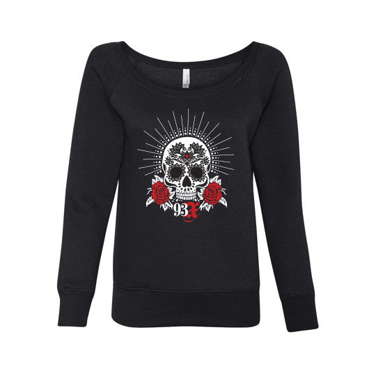 Slouchy Skull Fleece