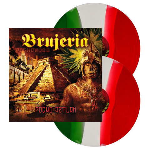 "Brujeria - ""Pocho Aztlan"" Green/White/Red tri-color"