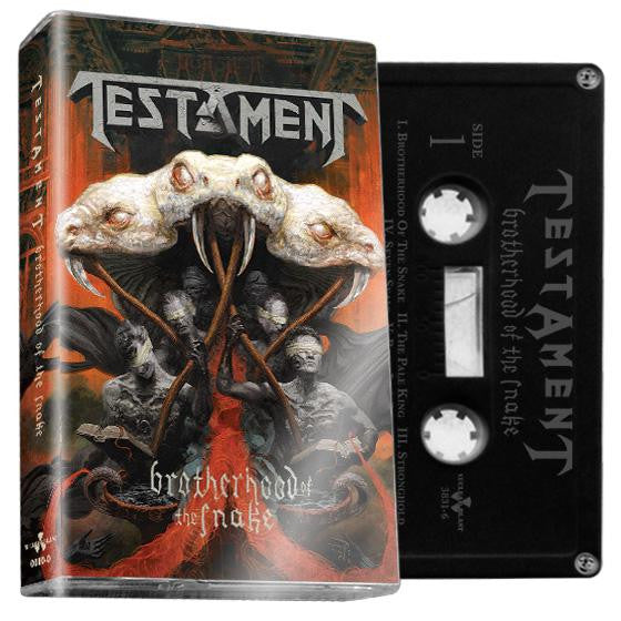 "Testament - ""Brotherhood of the Snake"" Limited edition black cassette"