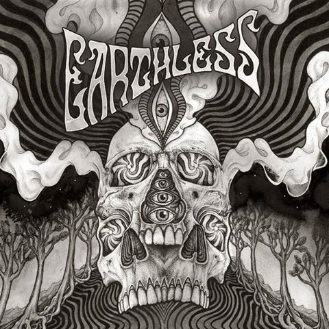 "Earthless-""Black Heaven"" Multi-Colored Splatter, Single Splatter Vinyl or Blue Vinyl."