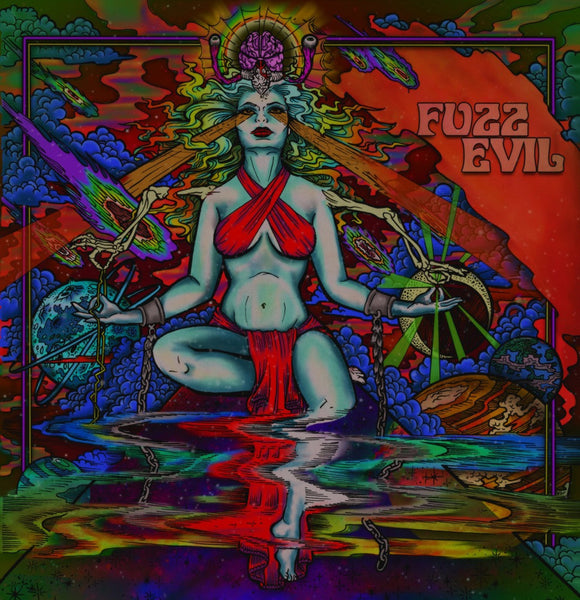 "Fuzz Evil-""Fuzz Evil"" Limited Edition Of 100 Clear Vinyl Worldwide, comes with a Band patch"