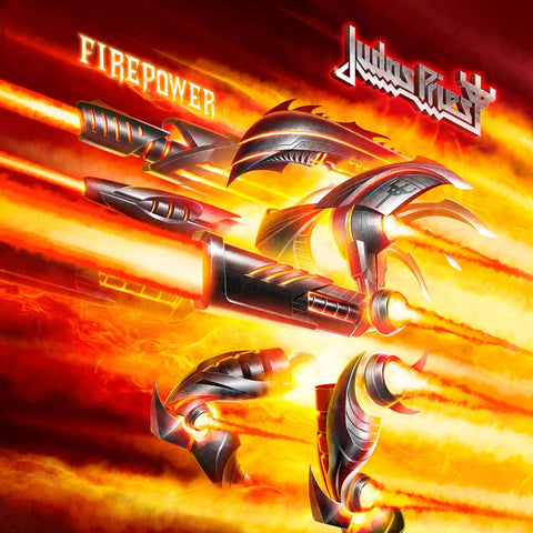 "Judas Priest-""Firepower"" Double 180 Gram Vinyl with Embossed Gatefold Jacket, 2 Printed Sleeves, and a Download Card"