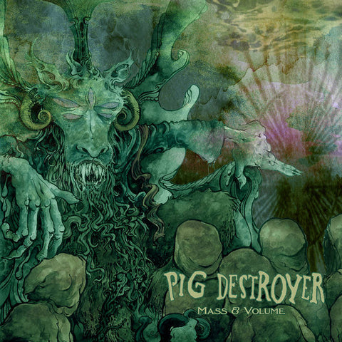 "Pig Destroyer-""Mass and Volume"" Limited Edition Kelly Green Vinyl."