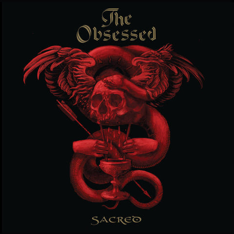 "Obsessed ""Sacred"" Limited Deluxe Edition of Only 750 12"" Blood Red Vinyl w/ Gold Splatter"