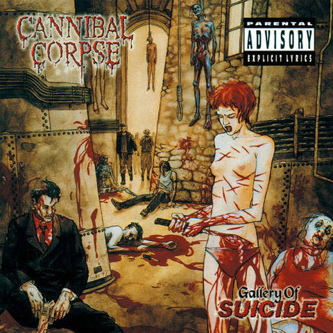 "Cannibal Corpse-""Gallery of Suicide"" Reissue on Red and Black Marble Vinyl"