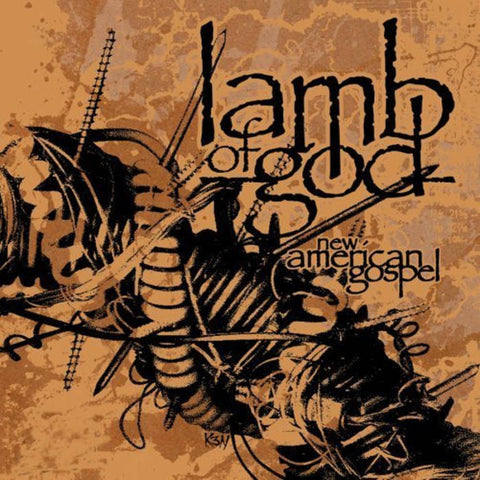"Lamb of God-""New American Gospel"" Limited Clear Colored Vinyl With Orange And Black Splatter"