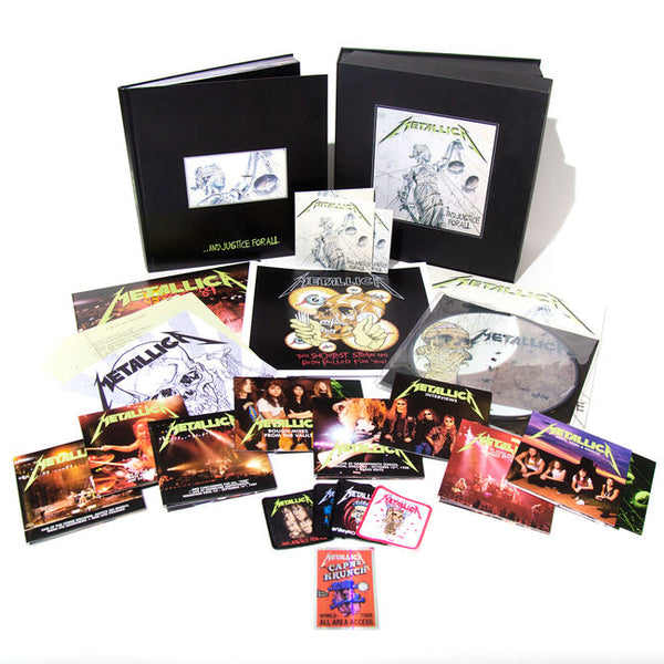 "Metallica-""...And Justice For All"" Six 180 Gram LP, 11 CD, 4 DVD Deluxe Box Set or Cassette"