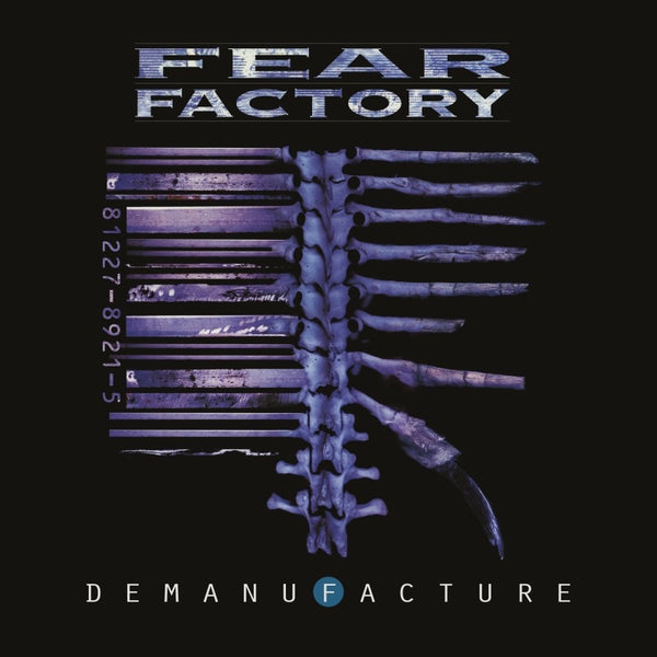 "Pre-Order! Fear Factory-""Demanufacture"" Transparent blue, solid white and black vinyl, deluxe packaging with an exclusive poster."