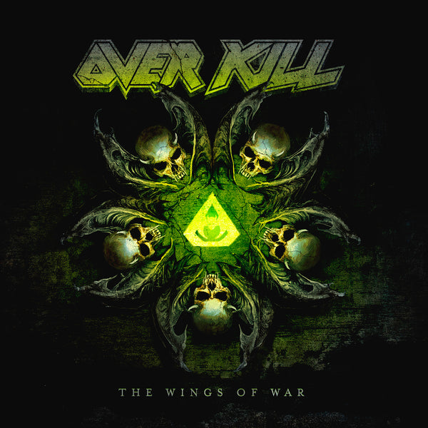 "Overkill-""The Wings of War"" Green/Yellow Splatter 2 LP, Grey 2LP, Green/Black Splatter 2LP, Black 2LP, or Green Cassette"