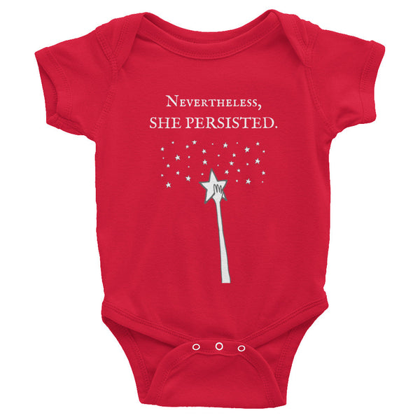 Gender Neutral She Persisted Rising Onesie  - Gender Bender Kids