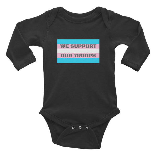 We Support Our Troops Onesie
