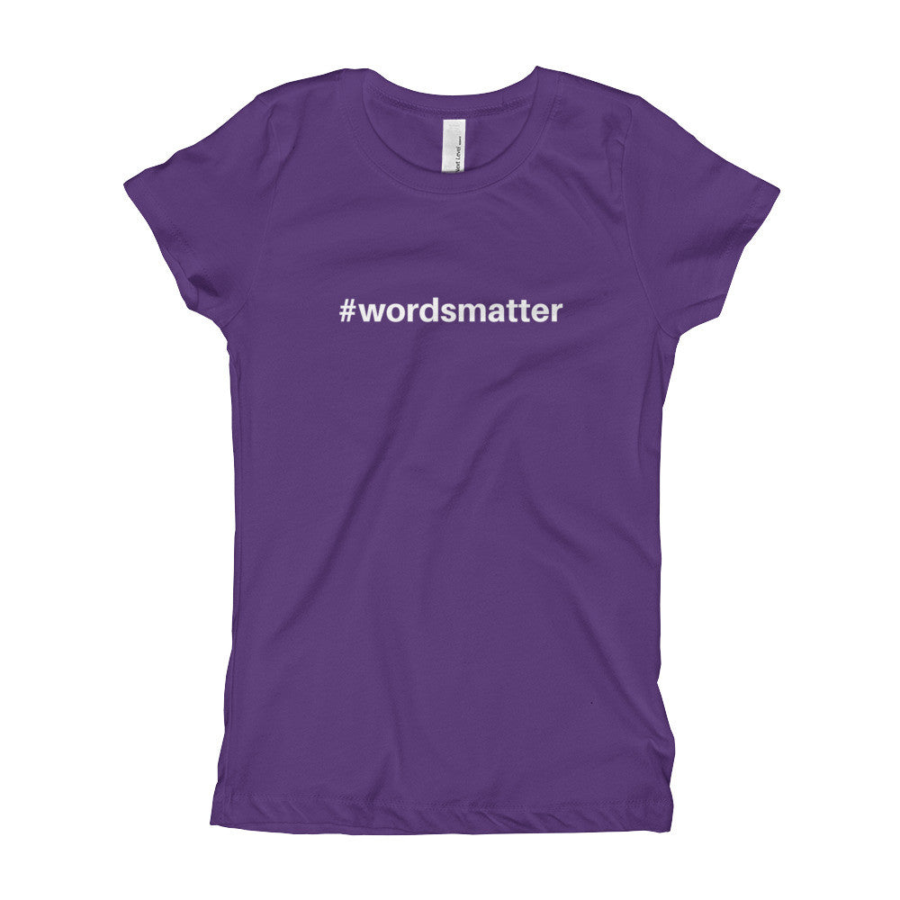 Gender Neutral #wordsmatter Slim Fit Tee  - Gender Bender Kids