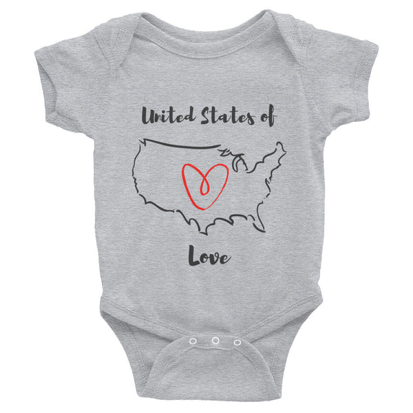 Gender Neutral United States of Love Onesie  - Gender Bender Kids