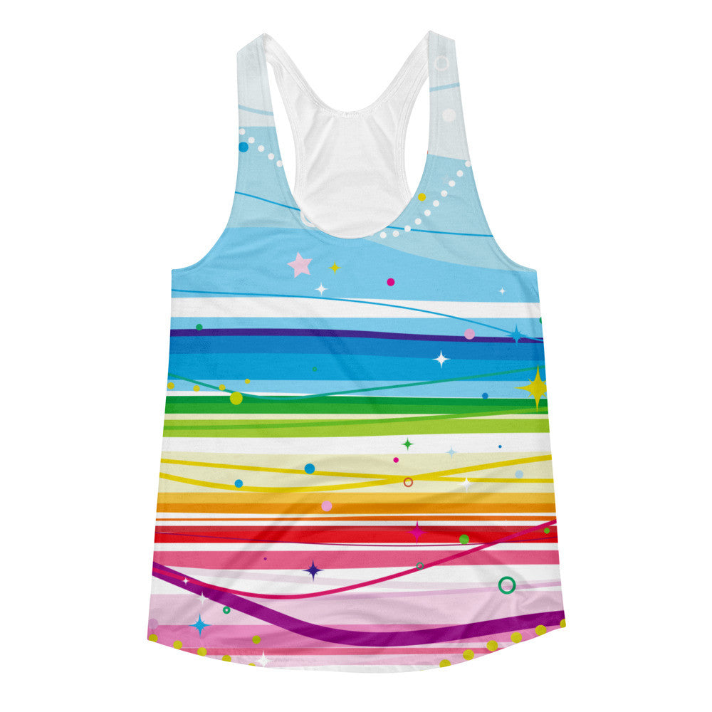 Rainbow Joy Adult Racerback Tank